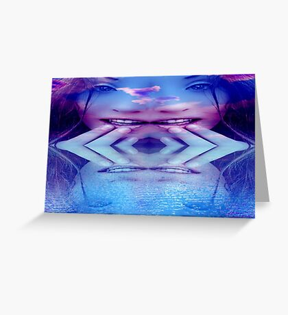 Blue Reflection Greeting Card