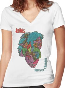 Love - Forever Changes + Logo Women's Fitted V-Neck T-Shirt