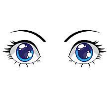Cute Stylized Eyes female Photographic Print