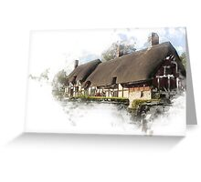 Ann Hathaways Cottage Greeting Card