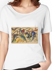 Kandinsky -  Painting With White Border Women's Relaxed Fit T-Shirt