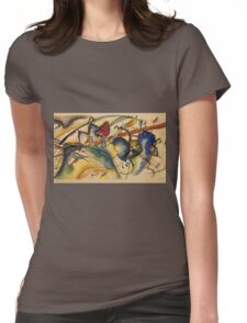 Kandinsky -  Painting With White Border Womens Fitted T-Shirt