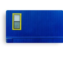 Blue Wall and a Window Canvas Print