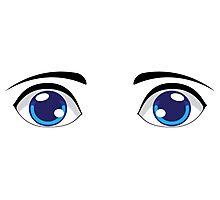 Cute Stylized Eyes male Photographic Print