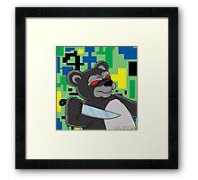 SCARY BEAR Framed Print