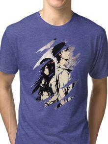Steins Gate  Okabe And Makise Anime  Tri-blend T-Shirt