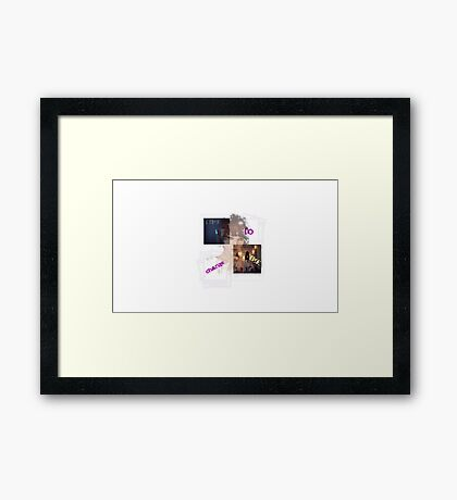 Time To Change Time Framed Print