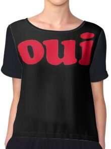 oui - red Chiffon Top