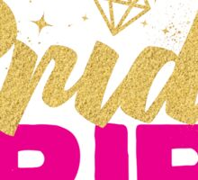 Bride Tribe Gold Foil Hot Pink Bridal Bridesmaid Sparkly Bling Wedding Bachelorette Party Hens Night Favors Gifts Sticker