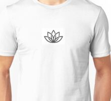 Lotus Flower Symbol Yoga Unisex T-Shirt