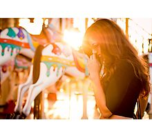 beautiful young  women Photographic Print