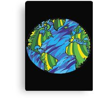 Earth, Planet Earth, Green Planet Canvas Print