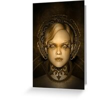 Steampunk female machine Greeting Card