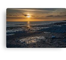 Sunset over South Wales Canvas Print
