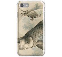 Vintage famous art - Hokusai Katsushika - Picture Of Koi Carp And Turtles iPhone Case/Skin