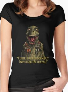 "Firefly: ""Curse your sudden but inevitable betrayal!"" Women's Fitted Scoop T-Shirt"