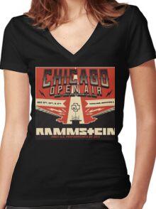 Chicago Open Air Music Festival 2 Women's Fitted V-Neck T-Shirt
