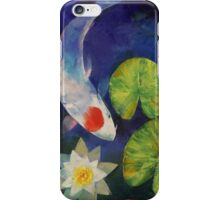 Tancho Koi and Water Lily iPhone Case/Skin