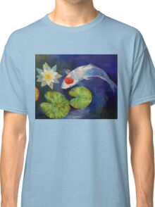 Tancho Koi and Water Lily Classic T-Shirt