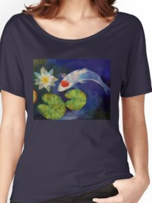 Tancho Koi and Water Lily Women's Relaxed Fit T-Shirt