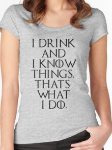 game of thrones drinking game  Women's Fitted Scoop T-Shirt