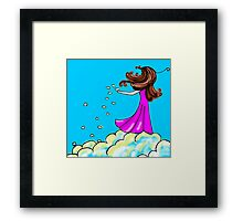 Cloud seeding Framed Print
