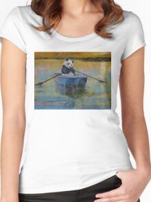 Panda Reflections Women's Fitted Scoop T-Shirt