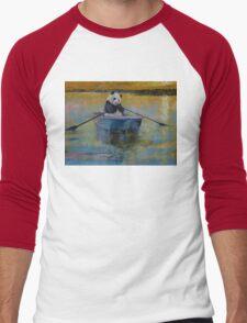 Panda Reflections Men's Baseball ¾ T-Shirt