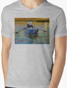 Panda Reflections Mens V-Neck T-Shirt