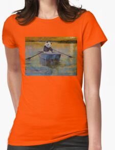 Panda Reflections Womens Fitted T-Shirt