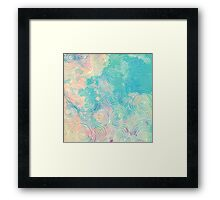 Watercolor Pattern Framed Print