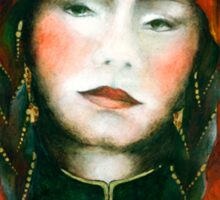 Portrait of nomad woman Sticker