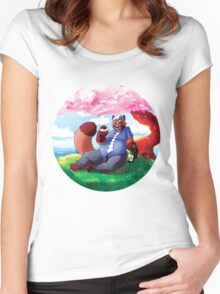 Tanuki Dad Women's Fitted Scoop T-Shirt
