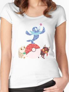 Sun and Moon starters Women's Fitted Scoop T-Shirt