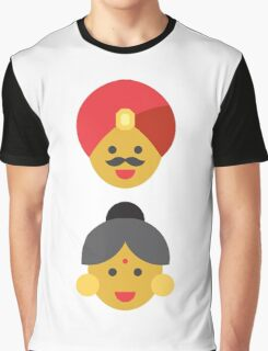 an indian man and woman Graphic T-Shirt