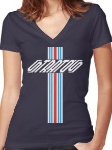stratos shirt Women's Fitted V-Neck T-Shirt