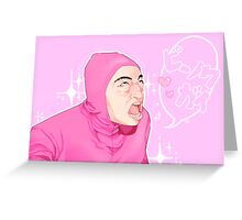 Kawaii Pink Guy Filthy Frank Greeting Card