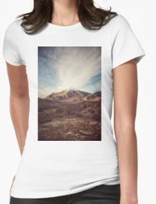 Mountains in the background XVII Womens Fitted T-Shirt