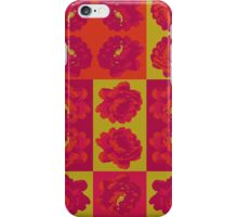 Lime Green and Fuchsia Pop Art Patchwork iPhone Case/Skin