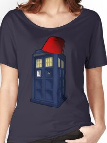 Tardis with a Fez Women's Relaxed Fit T-Shirt