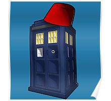 Tardis with a Fez Poster