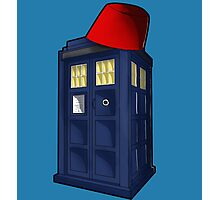 Tardis with a Fez Photographic Print