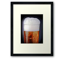 Full glass of cold beer Framed Print