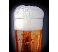 Full glass of cold beer Photographic Print