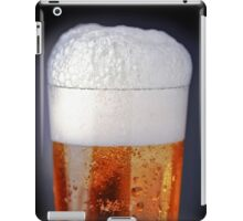 Full glass of cold beer iPad Case/Skin
