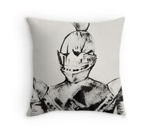 Knight, Painted With Cardboard Throw Pillow