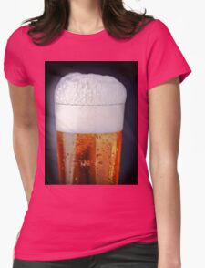 Full glass of cold beer Womens Fitted T-Shirt