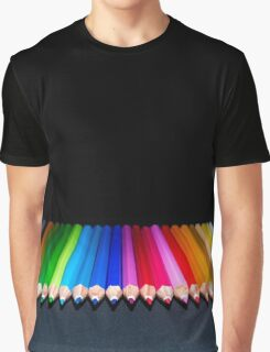Colours Pencils Graphic T-Shirt