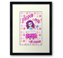 Chibi girl illustration  Framed Print