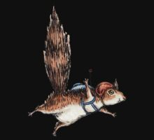 Skydiver Squirrel Baby Tee